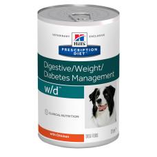 Hill's (Хиллс) Prescription Diet Canine w/d Weight Diabetes Management влажный корм для собак при сахарном диабете с курицей 370г
