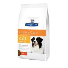 Hills (Хиллс) Prescription Diet Canine c/d диета для профилактики мочекаменной болезни у собак 2кг;5кг;12кг