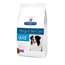 Hills (Хиллс) Prescription Diet Canine d/d Duck & Rice диета для собак, склонных к пищевой аллергии с уткой и рисом 2кг;12кг