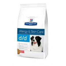 Hills (Хиллс) Prescription Diet Canine d/d Salmon & Rice диета для собак, страдающих от пищевой аллергии 2кг;12кг