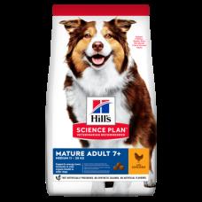 Hill's (Хиллс) Science Plan Canine Mature Adult 7+ Medium Active Longevity Chicken & Rice корм для пожилых собак средних пород с курицей и рисом 14кг