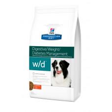 Hill's (Хиллс) Prescription Diet Canine W/D диета для собак для предотвращения запоров и ожирения 1.5кг;12кг