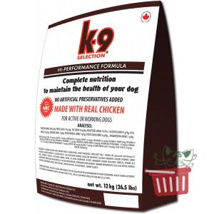 K9 Selection Performance корм для взрослых активных и рабочих собак 5кг; 20кг