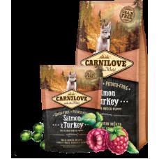 Carnilove (Карнилав) Puppy Large Breed Salmon & Turkey беззерновой корм с лососем и индейкой для щенков крупных пород 1,5кг; 12кг