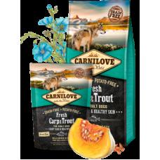 Carnilove (Карнилав) Adult Dog Fresh Carp & Trout беззерновой корм с карпом и форелью для взрослых собак 1,5кг; 12кг