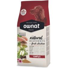 Ownat (Овнат) Dog Classic Adult Complet сбалансированный корм на основе куриного мяса для собак 4кг; 15кг; 20кг