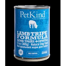 PetKind (ПетКайнд) Lamb Tripe Formula консерва для собак с новозеландским ягненком, мясом канадской индейки и овечьим рубцом 369г