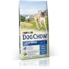 Dog Chow (Дог Чау) Adult Large Breed. Корм для взрослых собак крупных пород и индейкой 14кг