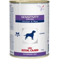 Royal Canin (Роял Канин) Sensitivity Control Chicken консервированный диетический корм для собак, страдающих прищевой аллергией (курица) 420г