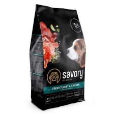 Savory (Сейвори) Puppy Dog Fresh Turkey & Chicken сухой корм из свежей индейки и цыпленка для щенков 1кг; 3кг; 12кг