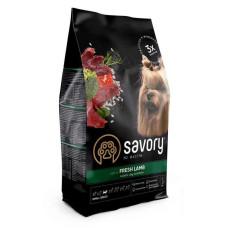 Savory (Сейвори) Adult Dog Small Breeds Fresh Lamb сухой корм из свежего мяса ягненка для взрослых собак мелких пород 1кг; 3кг; 8кг