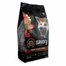 Savory (Сейвори) Adult Dog Large Breeds Fresh Turkey & Lamb сухой корм из свежей индейки и ягненка для взрослых собак крупных пород 3кг; 12кг