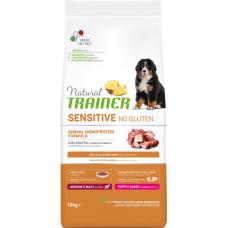 Trainer (Трейнер) Sensitive Puppy & Junior Medium & Maxi With Duck сухой корм с уткой для щенков средних и крупных пород с чувствительным пищеварением 3кг;12кг