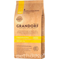 Grandorf 4 Meat & Brown Rice ADULT MINI BREEDS 27/15 корм 4 вида мяса для собак мелких пород (корм холистик с живыми пробиотиками) 1кг;3кг