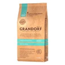 Grandorf 4 Meat & Brown Rice ADULT ALL BREEDS 25/15 корм 4 вида мяса для собак всех пород (корм холистик с живыми пробиотиками) 12кг