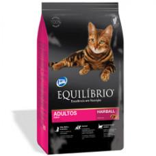 Equilibrio (Эквилибрио) Cat Adult Hairball сухой суперпремиум корм с курицей для котов 0,5кг; 1,5кг
