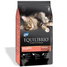 Equilibrio (Эквилибрио) Cat Adult Salmon Indoor сухой суперпремиум корм с лососем для котов 0,5кг