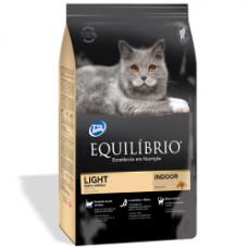 Equilibrio (Эквилибрио) Cat Adult Light Indoor сухой суперпремиум корм с курицей для котов склонных к полноте 0,5кг; 1,5кг