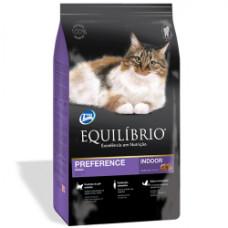 Equilibrio (Эквилибрио) Cat Adult Preference Indoor сухой суперпремиум корм с тунцом для котов 0,5кг