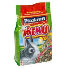 Vitakraft (витакрафт) Menu Vital. Основной корм для взрослых кроликов 5кг