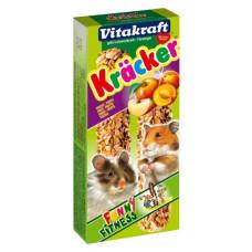 Vitakraft (витакрафт) Cracker. Витаминизированные палочки для хомяков с фруктами уп
