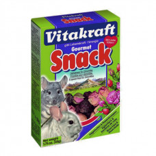 Vitakraft (витакрафт) Gourmet Snack. Лакомство для шиншил с плодами шиповника и лепестками роз 50г