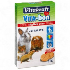 Vitakraft (витакрафт) Vita Bon. Мультивитамины для грызунов 31табл